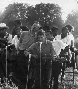 Pete Seeger et Bob Dylan
