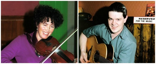 Edel McWeeney, fiddle - Shane McGowan, guitar ©Steven de Paoire
